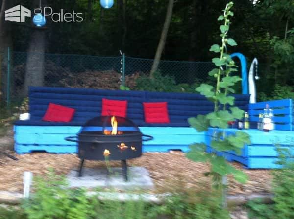 Summertime … Pallet Lounge Corner (12 Pallets) Lounges & Garden Sets