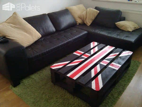 Union Jack Pallet Table Pallet Coffee Tables
