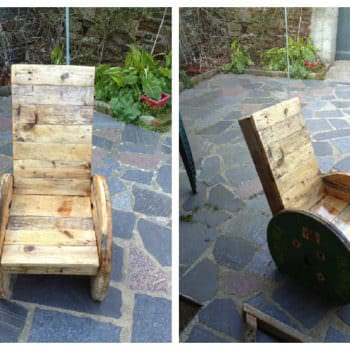 Upcycled Pallet And Reel Into Armchair