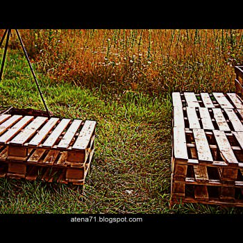Garden Pallet Table And Bench