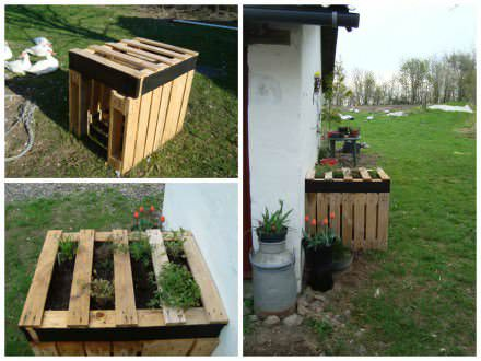 Duckfree herbs pallets planter