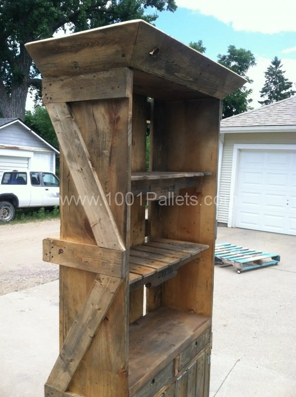 IMG 3089 597x800 Pallet Hutch in pallet home decor pallet furniture  with Repurposed pallet Crates