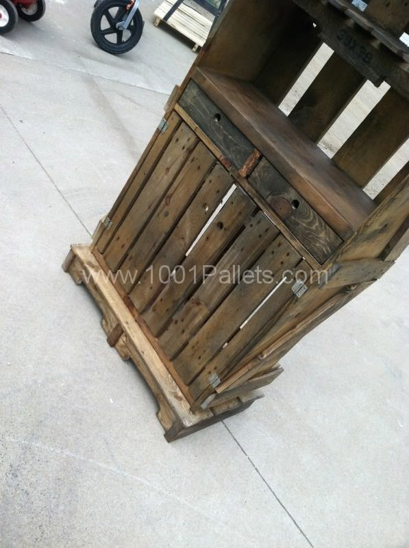 IMG 3093 597x800 Pallet Hutch in pallet home decor pallet furniture  with Repurposed pallet Crates
