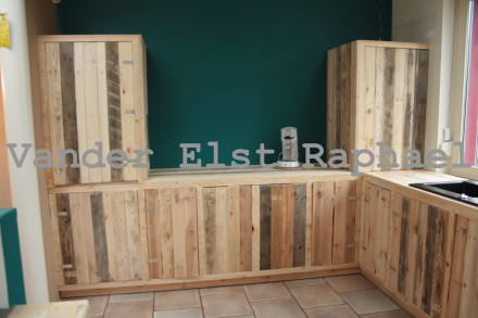 Kitchen makeover with pallets…