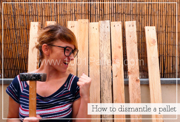 How To Dismantle A Wooden Pallet Pallet Home Accessories
