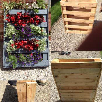 Homemade Vertical Pallet Planter