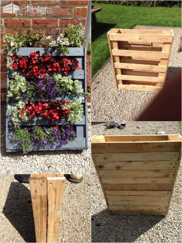 image81 600x800 Homemade vertical pallet planter in pallet garden  with Planter pallet