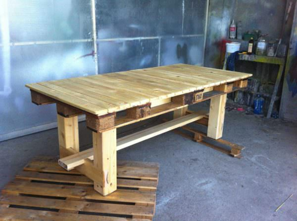 Amazing pallet table 1001 pallets - Table a manger palette ...
