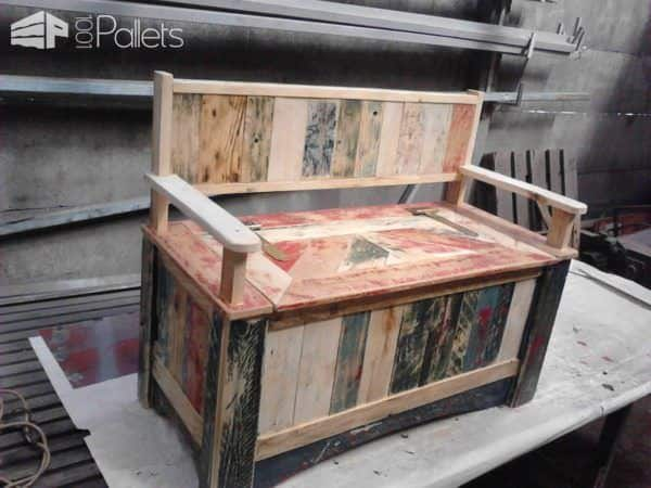 Beautiful Pallet Storage Bench Pallet Benches, Pallet Chairs & Stools