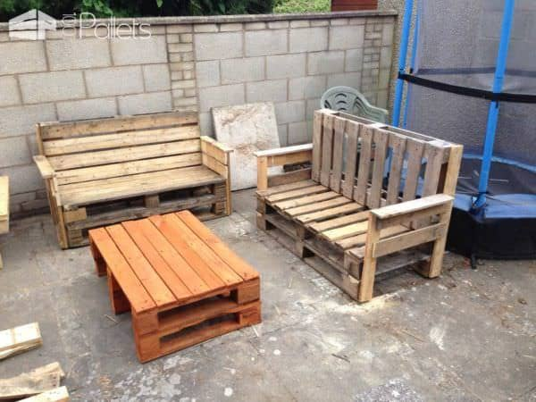 Garden Pallet Benches & Pallet Coffee Table Pallet Benches, Pallet Chairs & StoolsPallet Desks & Pallet Tables
