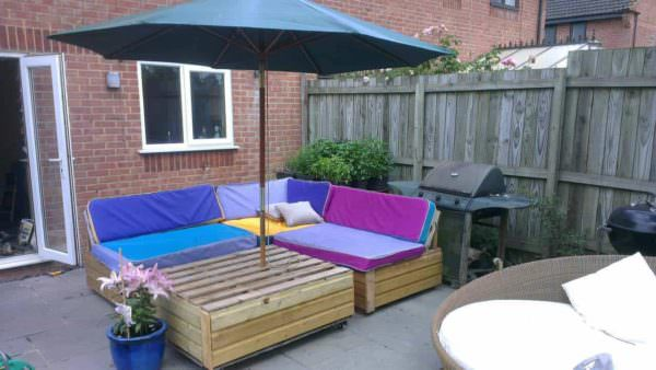 Garden Patio Sofa Set Made Out Of Recycled Pallets Lounges & Garden Sets