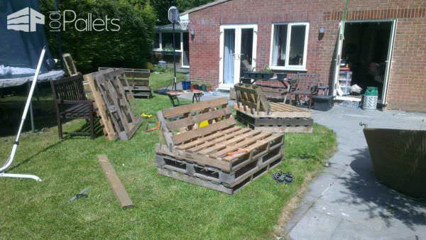 Garden Patio Sofa Set Made Out Of Recycled Pallets Lounges U0026 Garden Sets