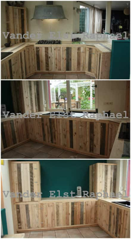 Kitchen Makeover With Recycled Pallets