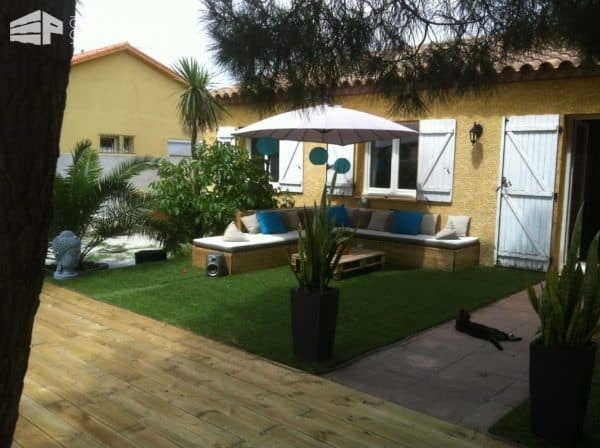 My Backyard Out of 13 Recycled Pallets Lounges & Garden Sets