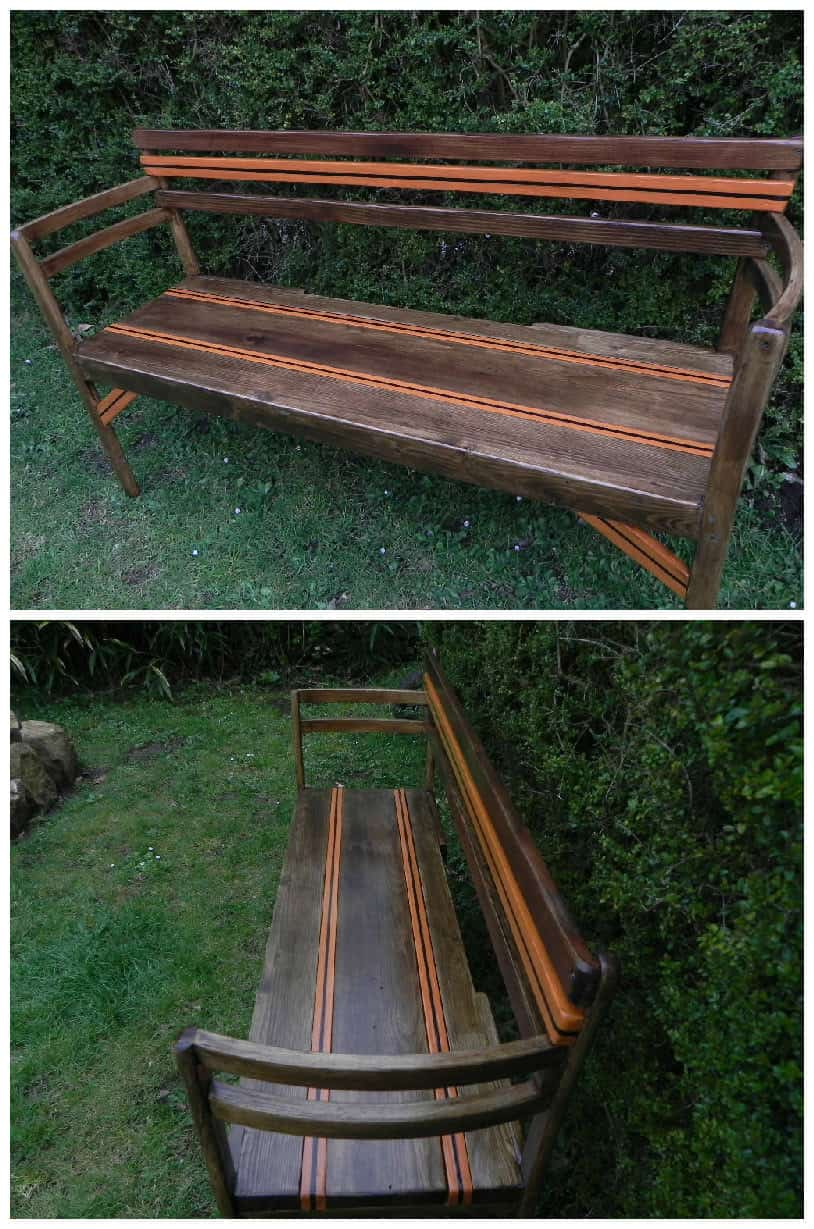 My Garden Bench Made From Pallet Boards Amp Two Old Chairs