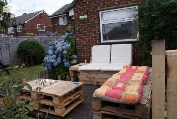 Outdoor Pallet Lounge Lounges & Garden Sets Pallet Terraces & Pallet Patios