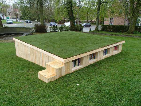Outside Library With Repurposed Pallets Pallet Sheds, Pallet Cabins, Pallet Huts & Pallet Playhouses