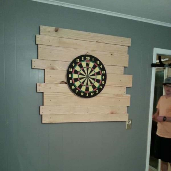 Pallet Dart Board Backing Pallet Walls & Pallet Doors