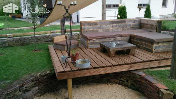 Pallet Deck & Lounge Area Lounges & Garden Sets