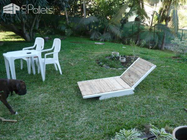 Pallet Garden Lounger Lounges & Garden SetsPallets in the Garden