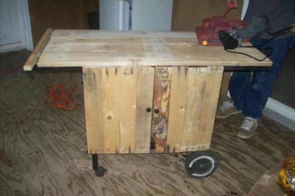 Pallet Kitchen Cart Pallet Desks & Pallet Tables