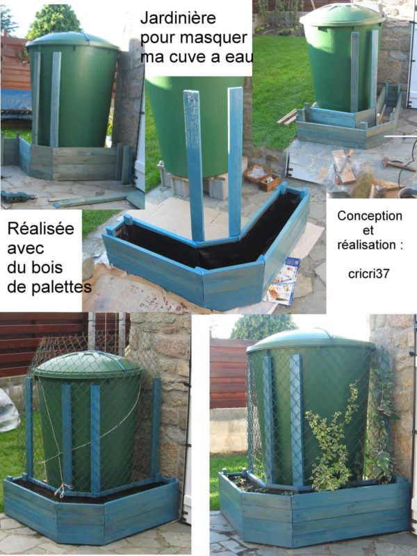 Pallet Planter To Hide A Water Tank Pallet Planters & Compost Bins