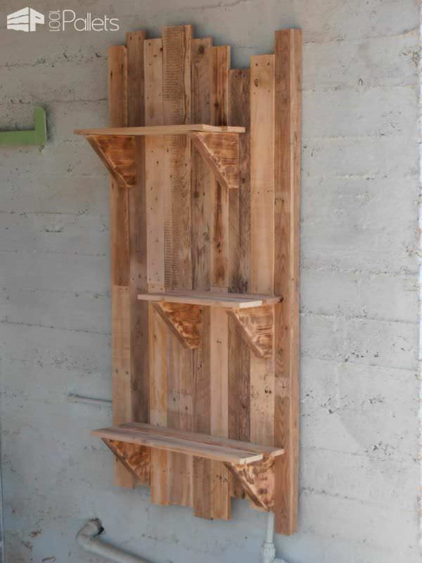 Pallet Wall Shelves Ideas 1001 Pallets
