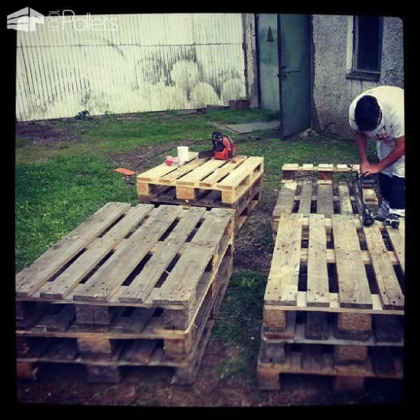 Pallets Bed With Lights Pallet Beds, Pallet Headboards & Frames