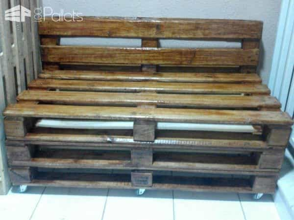 Pallets Bench In Apartment Pallet Benches, Pallet Chairs & Stools