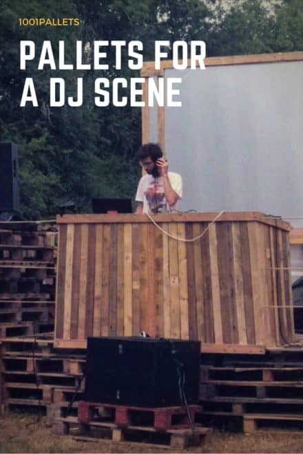 Pallets For A Dj Scene At A Garden Party
