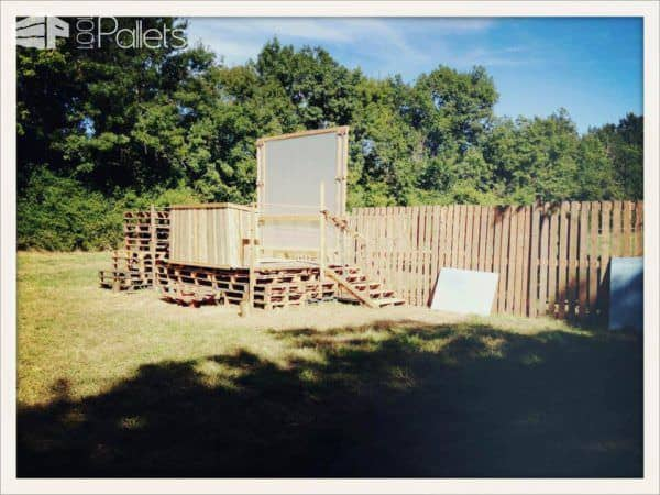 Pallets For A Dj Scene At A Garden Party Pallet Terraces & Pallet Patios