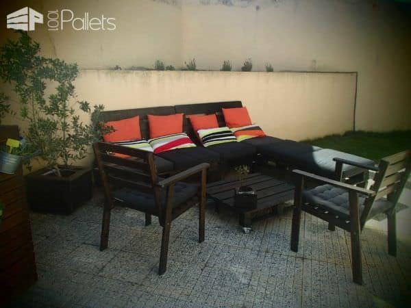 Patio Furniture Made From Old Pallets Lounges Garden Sets