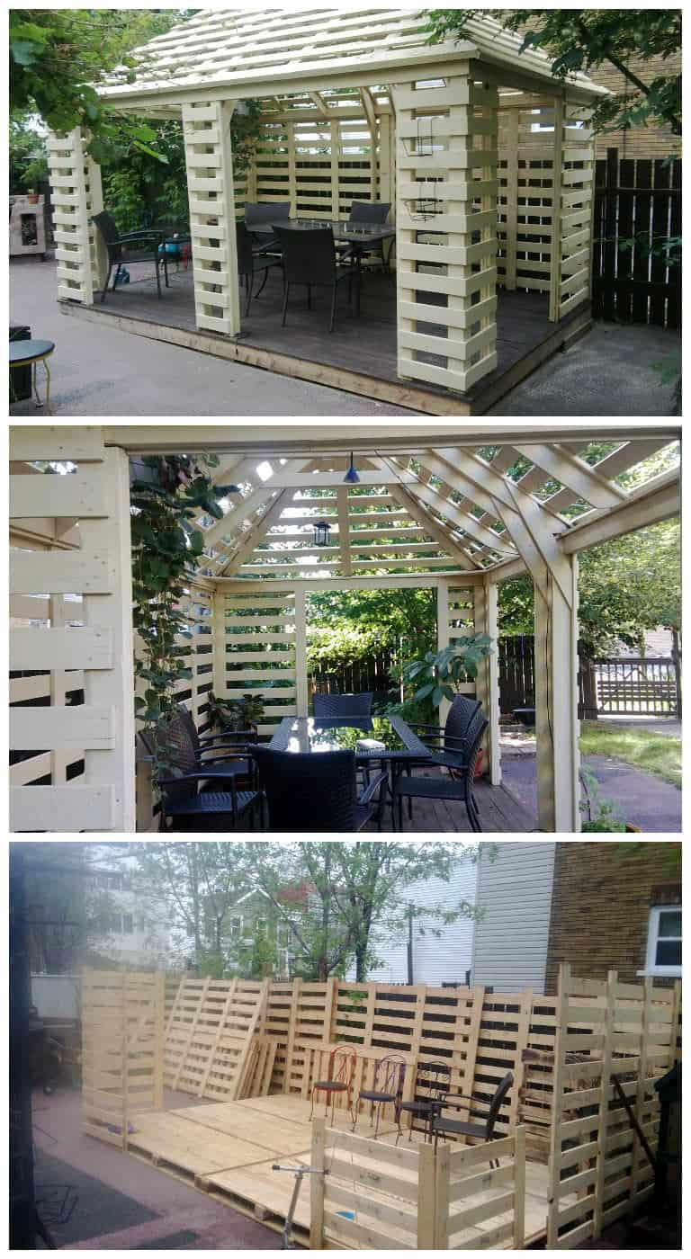 Pavilion Made From Recycled Pallets • Pallet Ideas • 1001 ...