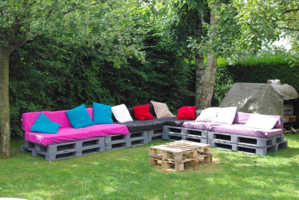 Salon De Jardin - Une Invitation à La Paresse / Pallet Garden Set Lounges & Garden Sets