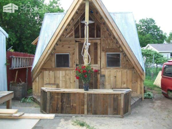 Skid Shack From Reclaimed Wood (Skid & Crates) Pallet Sheds, Pallet Cabins, Pallet Huts & Pallet Playhouses