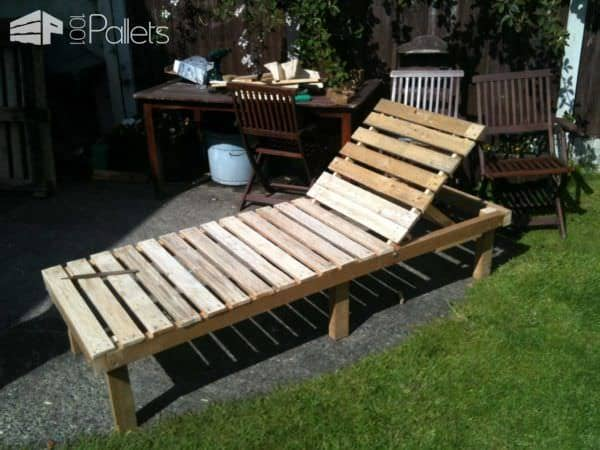 Sun Lounger U0026 Small Table From Discarded Pallets Lounges U0026 Garden Sets