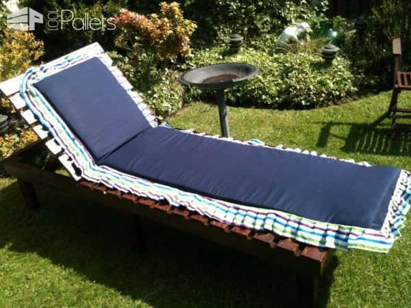Sun Lounger & Small Table From Discarded Pallets Lounges & Garden Sets