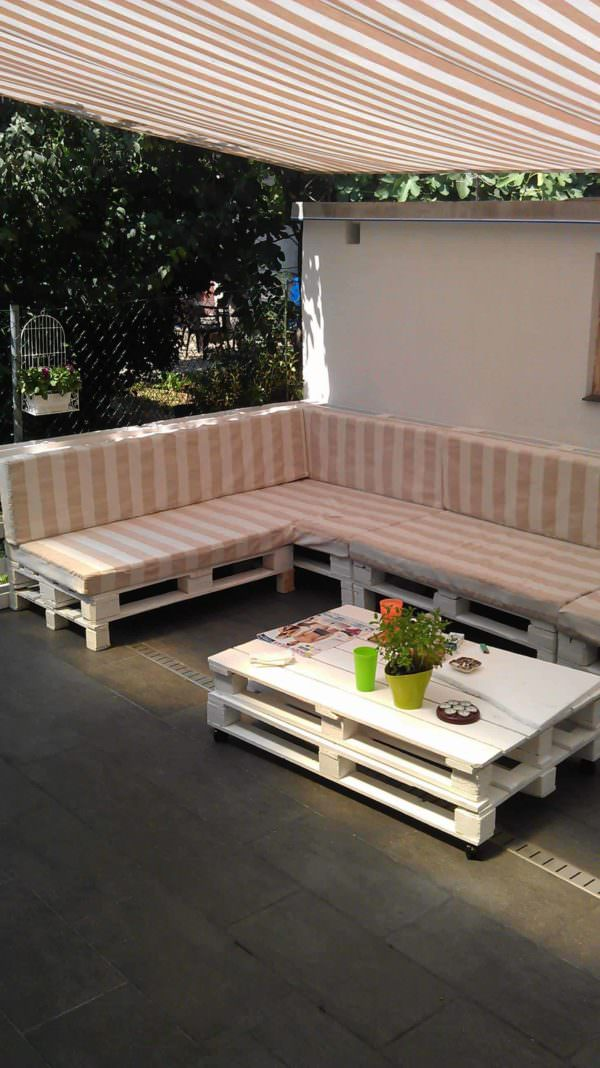 Terrace Pallet Sofa Lounges & Garden Sets Pallet Sofas & Couches