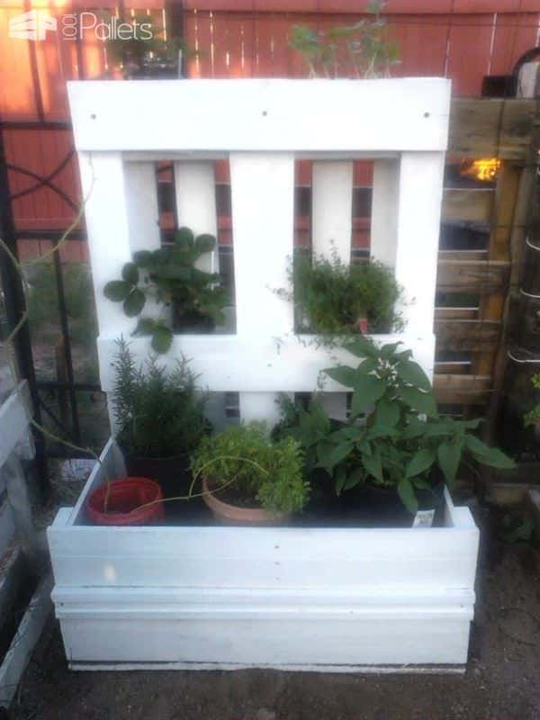 The Pallet Herb Planter Pallet Planters & Compost Bins