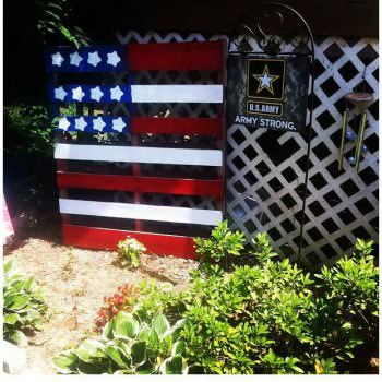 Proudly Showing Our Support: American Flag Out Of One Pallet