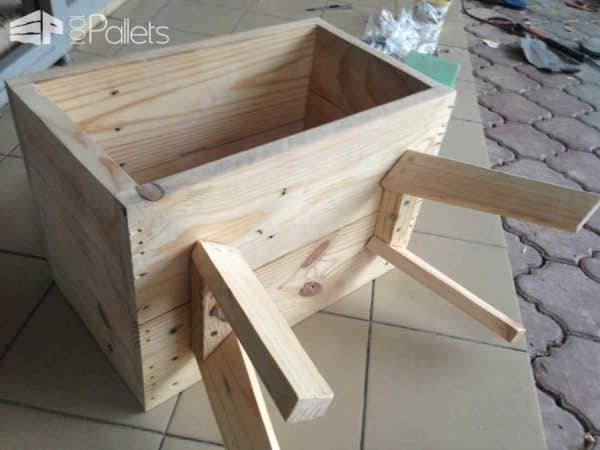 Bedside Pallet Table Pallet Desks & Pallet Tables