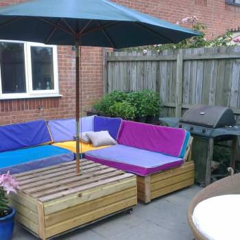 Garden Patio Sofa Set Made Out Of Recycled Pallets