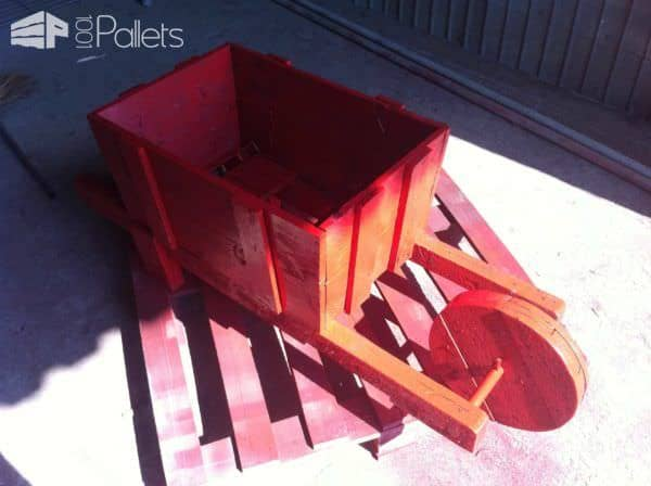Pallet Wheelbarrow For Decoration Pallet Planters & Pallet Compost