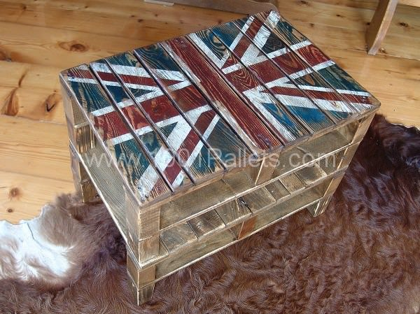 Union Jack Pallets Snack Table Pallet Coffee Tables