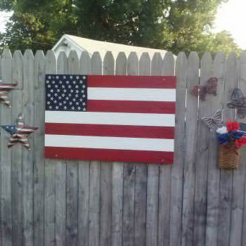 American Flag Out Of Repurposed Pallets