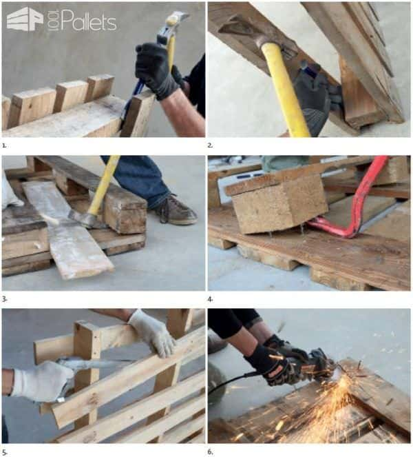 3 Easy Methods For Dismantling Pallets Other Pallet Projects