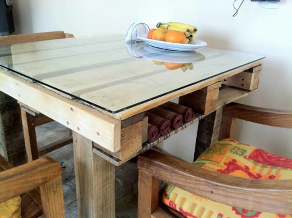 A Simple Pallet Table Pallet Desks & Pallet Tables