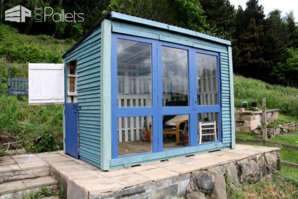 Beautiful Pallet Shed / Summerhouse Pallet Sheds, Pallet Cabins, Pallet Huts & Pallet Playhouses