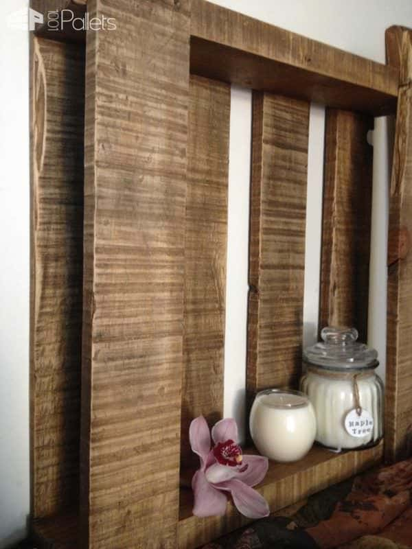 Beautiful Rustic Pallet Shelf Pallet Shelves & Pallet Coat Hangers
