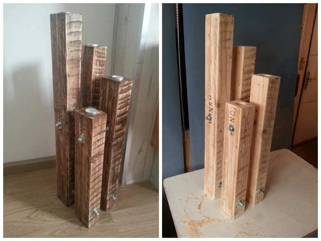 Chandelier Made Out Of Recycled Pallets Pallet Ideas 1001 Pallets